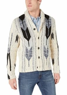 Lucky Brand Men's Button UP CHIMAYO Shawl Collar Cardigan Sweater  M