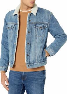 Lucky Brand Men's Button Up Denim Trucker Jacket  S