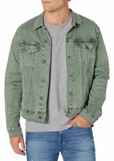 Lucky Brand Men's Button Up Sateen Trucker Jacket  S