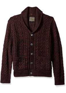 Lucky Brand Men's Cable Knit Cardigan Sweater  S