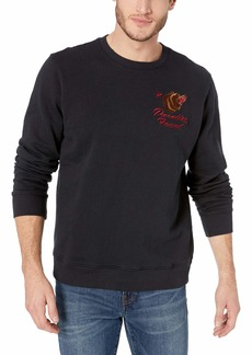 Lucky Brand Men's California Crew Neck Sweatshirt  S