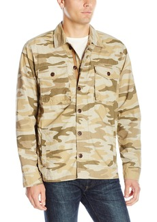 Lucky Brand Men's Camo Military Shirt Jacket Print