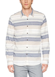 Lucky Brand Men's Casual Long Sleeve Stripe Button Down Shirt  XXL