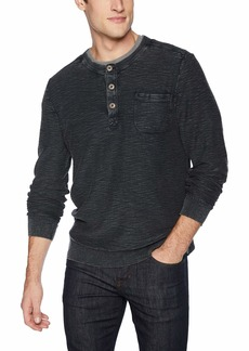 Lucky Brand Men's Casual Long Sleeve Washed Henley Sweater  M
