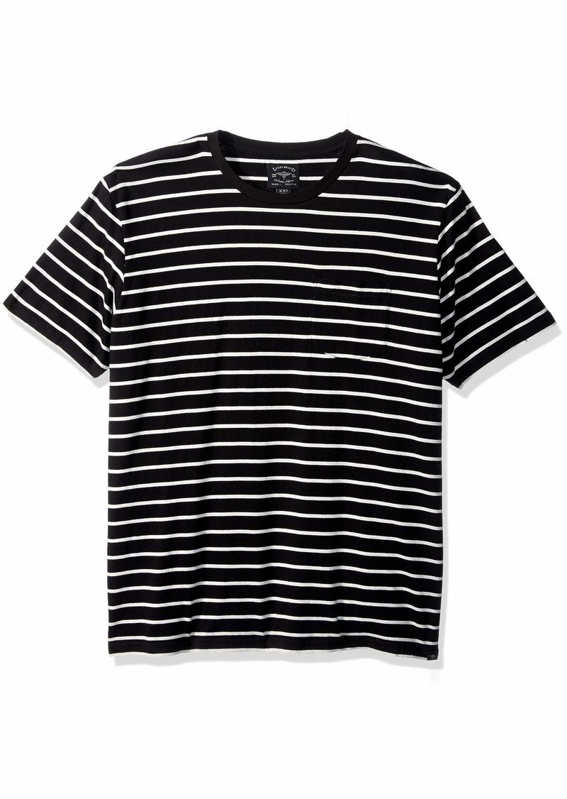 Lucky Brand Men's Casual Short Sleeve Stripe ONE Pocket Crew Neck TEE  M