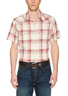 Lucky Brand Men's Casual Short Sleeve Western Button Down Shirt  M