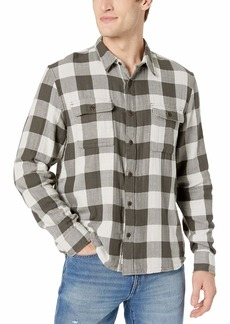 Lucky Brand Men's Clean Button Up Two Pocket Workwear Shirt  S