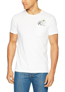 Lucky Brand Men's Cocktail Girl Pocket Graphic TEE  S