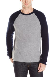 Lucky Brand Men's Colorado Cross-Stitch Baseball Sweater