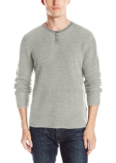 Lucky Brand Men's Colorado Cross-Stitch Henley Sweater