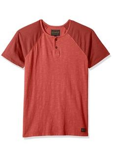 Lucky Brand Men's Colorblock Baseball Henley TEE Shirt  M