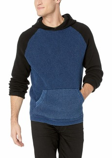 Lucky Brand Men's Colorblock Indigo Thermal Hoodie Sweatshirt Multi XL