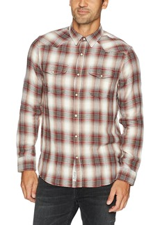 Lucky Brand Men's Double Weave Santa Fe Western Shirt