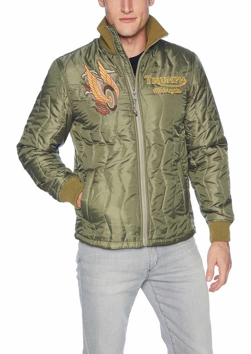 Lucky Brand Men's Embroidered Triumph Tiger Jacket  S
