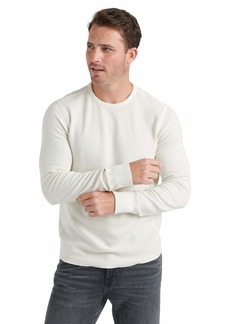 Lucky Brand Men's French Rib Long Sleeve Crew Neck Shirt