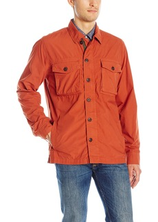 Lucky Brand Men's Garment Dye Military Shirt Jacket