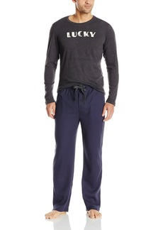 Lucky Brand Men's Giftset: Long Sleeve Crew and Thermal Pant