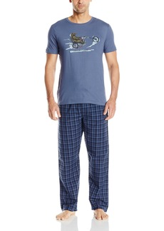 Lucky Brand Men's Giftset: s/Crew and Woven Pant