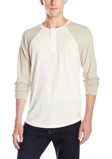Lucky Brand Men's Grey Label Color Block Henley  X-Large