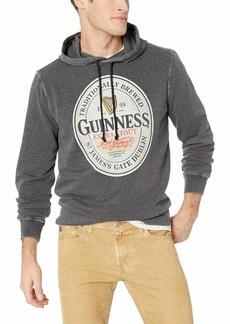 Lucky Brand Men's Guinness Oval Burnout Fleece Hooded Sweatshirt  M