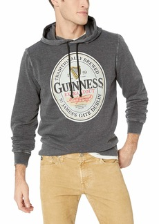 Lucky Brand Men's Guinness Oval Burnout Fleece Hooded Sweatshirt  XXL