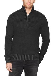Lucky Brand Men's Half Zip Mock Neck Sweater  S