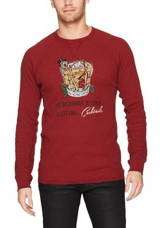 Lucky Brand Men's Holiday Cocktails Tee Biking red XL