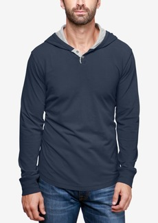 Lucky Brand Men's Hooded Henley Sweatshirt