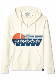 Lucky Brand Men's Hooded Sunset Baja Sweatshirt  L