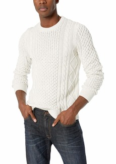 Lucky Brand Men's Iconic Cable Crew Neck Sweater  L
