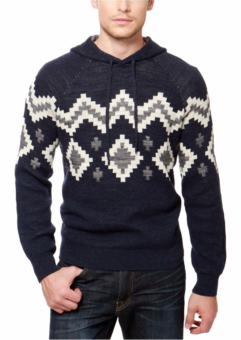 Lucky Brand Men's Intarsia Hooded Sweatshirt  XL