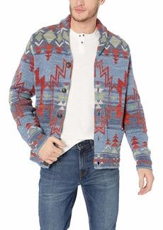 Lucky Brand Men's Jacquard Cardigan Sweater  XL