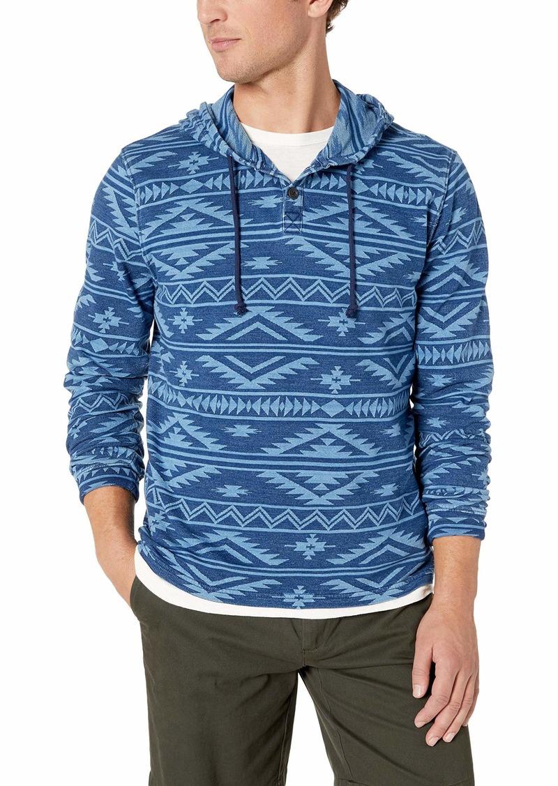 Lucky Brand Men's Jacquard  Pullover Hooded Sweatshirt L