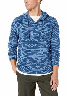 Lucky Brand Men's Jacquard  Pullover Hooded Sweatshirt XL