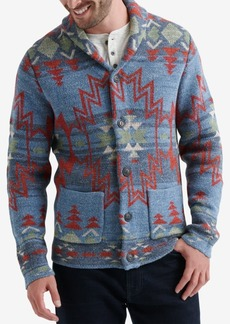 Lucky Brand Mens Jacquard Sweater