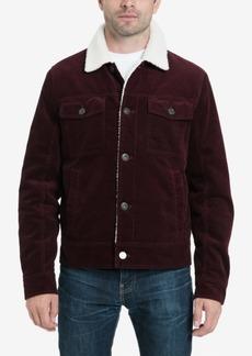 Lucky Brand Men's Kayne Corduroy Sherpa Trucker Jacket with Fleece Lining