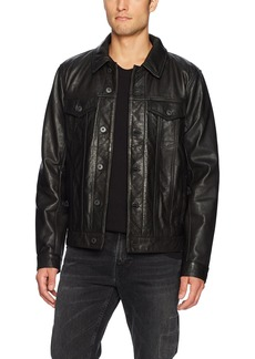 Lucky Brand Men's Leather Jacket  M