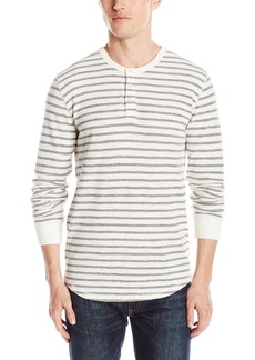 Lucky Brand Men's Lived-in Stripe Henley Shirt  X-Large