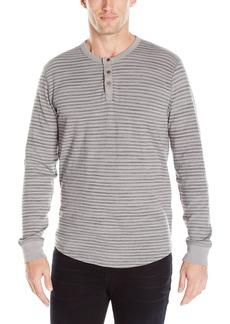 Lucky Brand Men's Lived-in Stripe Henley Shirt Grey