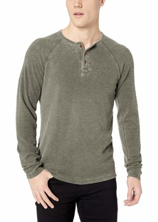 Lucky Brand Men's Long Sleeve Burnout Color Block Thermal Shirt  L