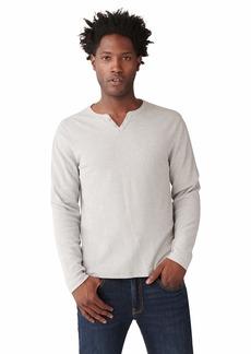 Lucky Brand Men's Long Sleeve Button Notch Neck Slub Thermal  M