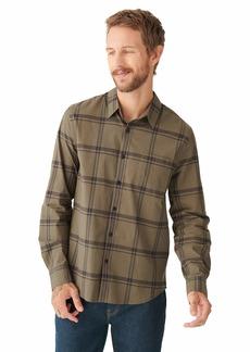 Lucky Brand Men's Long Sleeve Button One Pocket San Gabriel Shirt  L