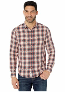 Lucky Brand Men's Long Sleeve Button Up No Yoke Western Shirt  M
