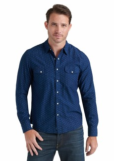 Lucky Brand Men's Long Sleeve Button Up  Santa Fe Western Shirt X Large
