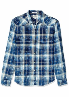 Lucky Brand Men's Long Sleeve Button UP Sugar Magic WASH Western Shirt  XL