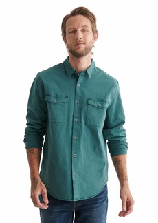Lucky Brand Men's Long Sleeve Button Up Two Pocket Monroe Shirt  XL
