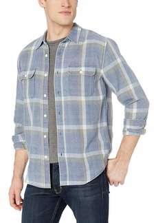 Lucky Brand Men's Long Sleeve Clean 2 Pocket Workwear Shirt  M