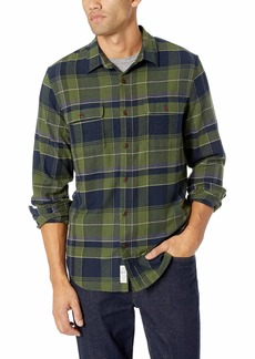 Lucky Brand Men's Long Sleeve Clean Two Pocket Button UP Workwear Shirt  S