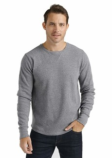 Lucky Brand Men's Long Sleeve Crew Neck Brushed Thermal Shirt  L