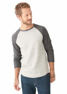 Lucky Brand Men's Long Sleeve Crew Neck Duofold Baseball Shirt  S